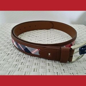 NWT Tommy Hilfiger Plaid Belt Size Med 34-36